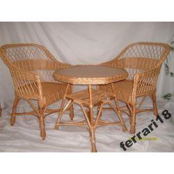 Fotele i stół meble ogrodowe  Wiklina .Producent Ozdoby choinkowe