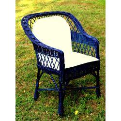 Fotel wiklinowy niebieski .... Ozdoby choinkowe