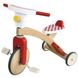 Dziecięcy rowerek trójkołowy - drewniany
