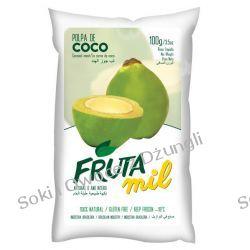 Zielony Kokos naturalny miąższ (puree kokosowe, pulpa, woda kokosowa z miąższem) bez cukru 2kg