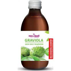 Sok z miąższem z owoców Gravioli bez cukru