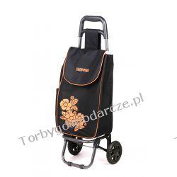 Wózek na zakupy Flower czarny/średni