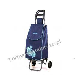 Wózek na zakupy Flower granat