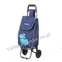 Wózek na zakupy Flower granat/średni