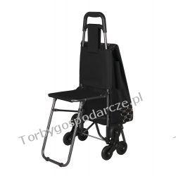 Wózek na zakupy z potrójnymi kołami z siedzeniem 3K-S05