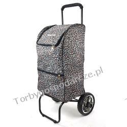 Wózek plażowy, na zakupy,  składany Boster XL Panterka PROMOCJA