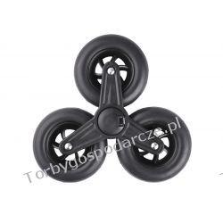 Potrójne koło trójkoło do wózka na zakupy 3x11 cm