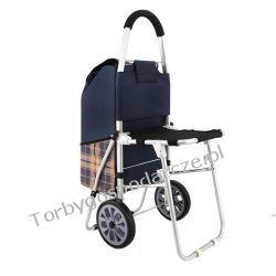 Wózek aluminiowy na zakupy z krzesłem KRATA KS