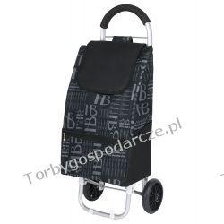 Wózek na zakupy, aluminiowy, gumowe koła HB