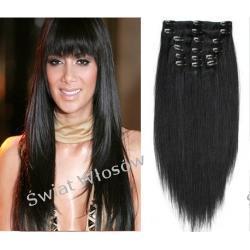 Zestaw Włosy Naturalne  Remy Clip- in 50-55 cm -8 taśm