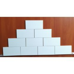 Biała w Połysku Glazura Cegiełka 10x20 cm  -Metrotiles Plane
