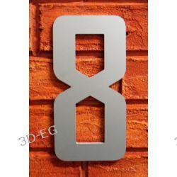 CYFRA 8 NUMER NA DOM SREBRNA wys 18cm Alucobond