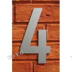 CYFRA 4 NUMER NA DOM SREBRNA wys 18cm Alucobond