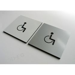 Piktogram Symbol WC Toaleta dla Niepełnosprawnych