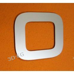 CYFRA 0 NUMER NA DOM, DRZWI wys. 15 cm Alucobond M