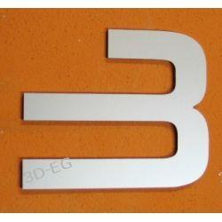 CYFRA 3 NUMER NA DOM, DRZWI wys. 15 cm Alucobond M