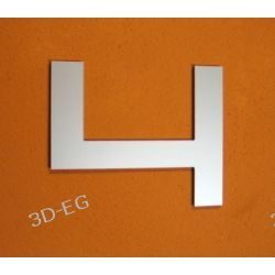CYFRA 4 NUMER NA DOM, DRZWI wys. 15 cm Alucobond M