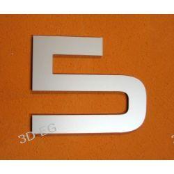 CYFRA 5 NUMER NA DOM, DRZWI wys. 15 cm Alucobond M