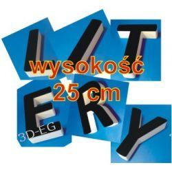 Litery 3D ze Styroduru z licem z pleksi wys. 25 cm