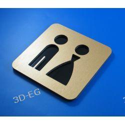 Piktogram, symbol, znak WC, toaleta koedukacyjna Z