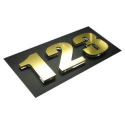 Numer Numery Cyfra Cyfry na drzwi laminat złoto