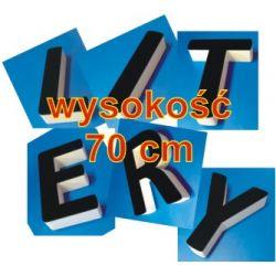 Litery 3D ze Styroduru z licem z pleksi wys. 25cm / 100cm