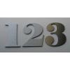 Numer Numery Cyfry na Drzwi z aluminium 9 cm