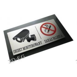 Uwaga Monitoring - Zakaz Palenia Tabliczka Dibond