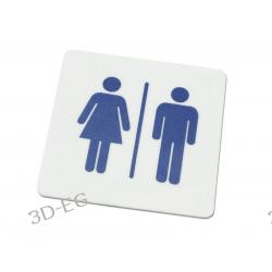 Piktogram, Symbol, Znak - WC Toaleta Koedukacyjna