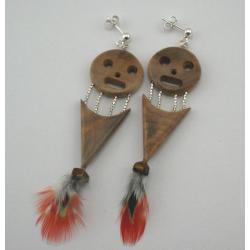 """Kolczyki """"Uśmiech Zulusa"""" z korzenia baobabu"""