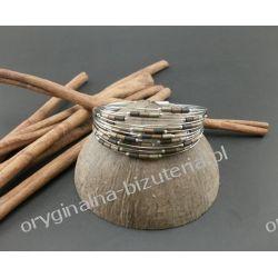 Bransoletka - Metaliczne odcienie hematytu