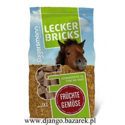 Lecker Bricks Fruchte & Gemuse EGGERSMAN cukierki dla konia Owocowo-warzywne (Z)