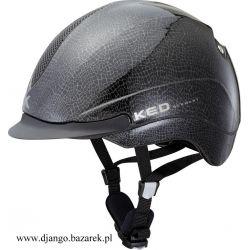 Kask KED Ventri Leather błyszczący czarny M  (Z)