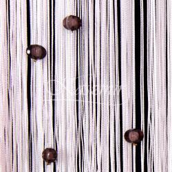 Makarony z koralikami czarne koraliki, biały makaron 160x295...