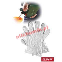 Rękawice ochronne foliowe RFOLIA roz. L - 100 szt [1966]