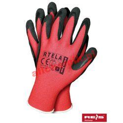 Rękawice robocze powlekane latexem RTELAC roz. 10 - 1 para