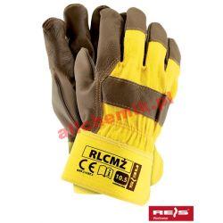 Rękawice ochronne wzmacniane skóra bydlęcą RLCMŻ roz. 10.5 - 1 para