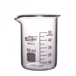 [1069] Zlewka szklana niska z wylewem 50 ml - 1 szt
