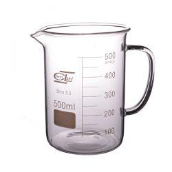 Zlewka szklana niska z uchem 500 ml - 1 szt