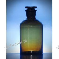 Butelka szklana oranż z korkiem wąska szyja 100 ml - 1 szt