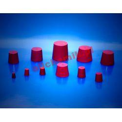 [0693] Korek gumowy czerwony, guma naturalna 09x13x20 - 1 szt