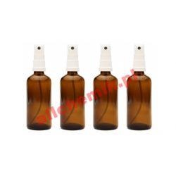 BAT100 Butelka szklana brązowa z atomizerem 100 ml
