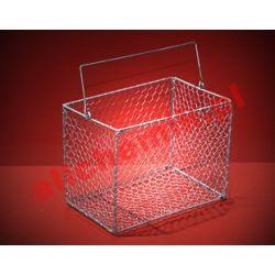 Kosz prostokątny do sterylizacji, stalowy, 270x180x200 - 1 szt