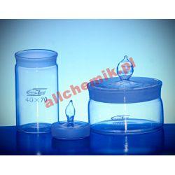Naczynie wagowe szklane, wysokie 40x80 mm - 1 szt