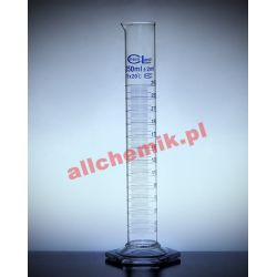 [2347] Cylinder miarowy szklany, stopa szklana sześciokątna - 500 ml