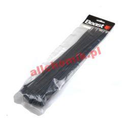 Opaski zaciskowe elastyczne, czarne 300 mm - 50 szt