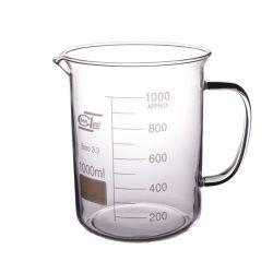 [2310] Zlewka szklana niska z uchem 1000 ml - 1 szt