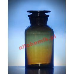 [2472] Butelka szklana oranż z korkiem szeroka szyja 30 ml - 1 szt