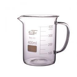 Zlewka szklana niska z uchem 400 ml - 1 szt
