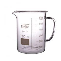 [2459] Zlewka szklana niska z uchem 600 ml - 1 szt